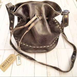 Carillo Leather Bucket Bag